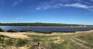 Stadtwerke investieren in Solarpark Pritzen. Auf einer Fläche von 20 Hektar liefern rund 38.000 Solarmodule eine Leistung von 10 Megawatt.