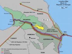 Die Südkaukasus-Gaspipeline verläuft über Georgien.