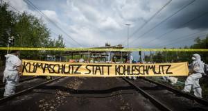 Klimaproteste vor Kraftwerk Schwarze Pumpe zu Pfingsten 2016