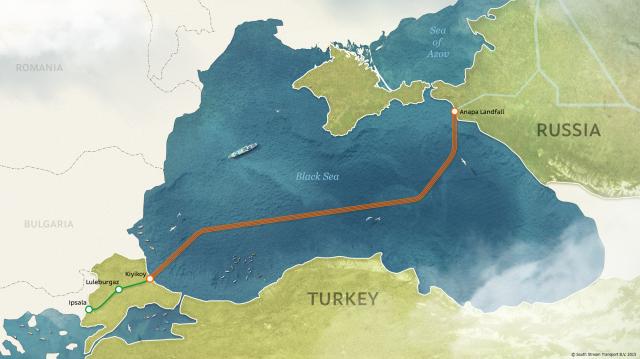 Route für die Gasleitung Turkish Stream
