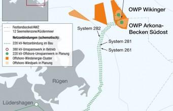 Ostwind 1 zum Netzanschluss für Windparks vor Rügen.
