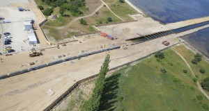 On 3 July 2010, the first pipe string of the Nord Stream Pipeline was pulled ashore at the German landfall near Lubmin.