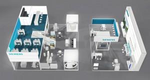 Siemens Stand B6.362 in Halle 6 der Fachmesse WindEnergy Hamburg 2016