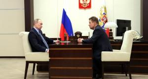 Miller erläutert, dass sich der Marktanteil von Gazprom I Europa erhöht hat.