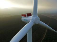 Die Acht-Megawatt-Windturbine im dänischen Østerild dient mechanischen und elektrischen Tests bis zur Typzertifizierung im nächsten Jahr.