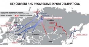 Gazproms Exportziele auf einen Blick