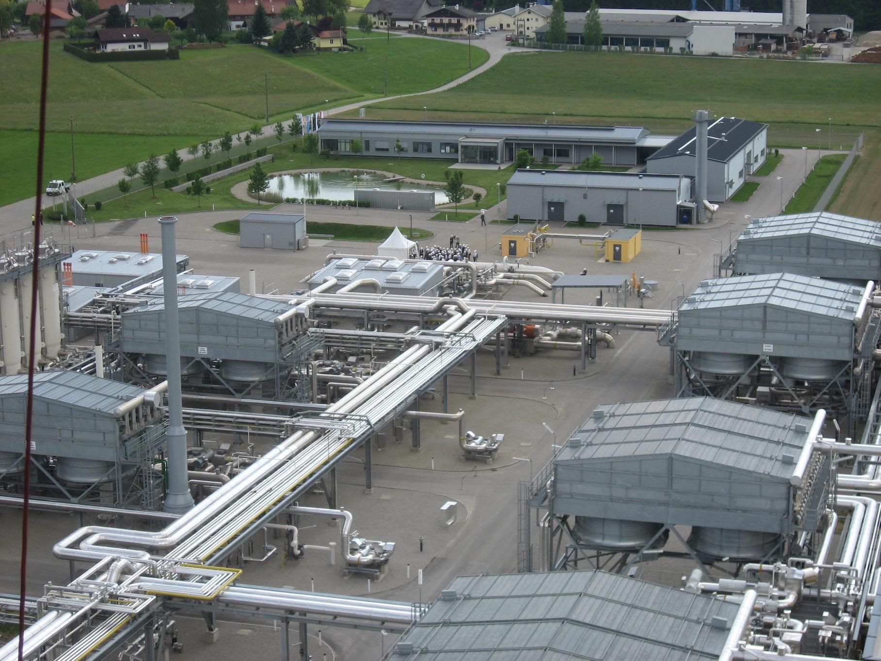 Der Gasspeicher Haibach liegt nördlich von Salzburg.