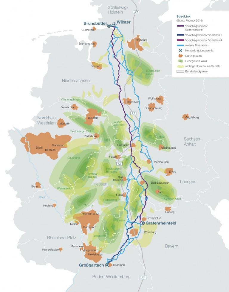 Trassenverlauf für Stromautobahn vorgestellt