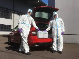 Aus Biokraftstoff Desinfektionsmittel produzieren